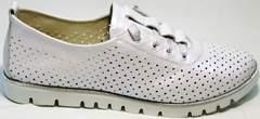 Женские стильные кроссовки туфли с перфорацией женские Mi Lord 2007 White-Pearl.