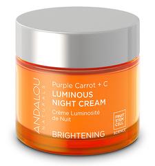 Ночной осветляющий крем «Пурпурная морковь + витамин С», Andalou Naturals