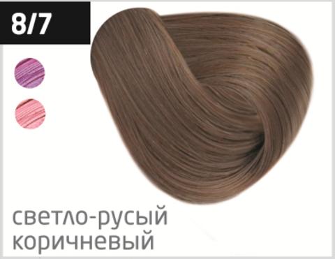 OLLIN color 8/7 светло-русый коричневый 60мл перманентная крем-краска для волос