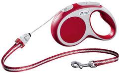 Поводок-рулетка Flexi VARIO S (до 12 кг) 5 м трос красная