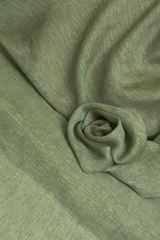 Льняная вуаль цвет ХАКИ МЕЛАНЖ