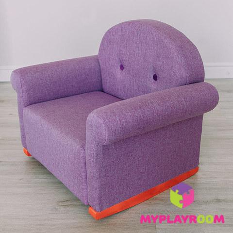 Детское кресло-качалка (мини-диванчик), Лавандовое 2