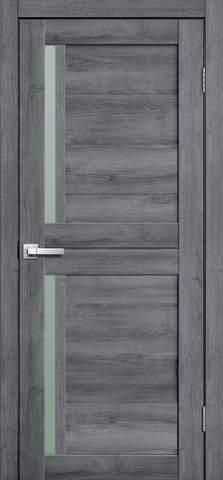 Дверь Porte line Берлин 22, стекло матовое, цвет дуб стоунвуд, остекленная