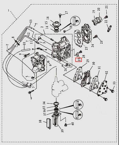 Анод для лодочного мотора T9.8 Sea-PRO (2-27)