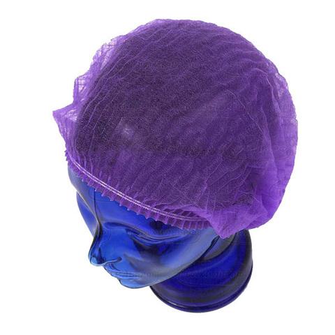 Шапочки одноразовые медицинские Шарлотта фиолетовая, 100 шт/уп