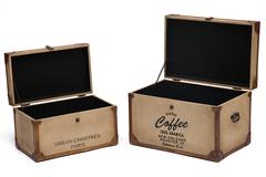 Набор из 2-х столиков-сундуков Secret De Maison Чарттрес (CHARTRES) ( mod. M-3165 ) — коричневый