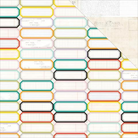 Лист бумаги 30х30см MEMORANDUM Pink Paislee