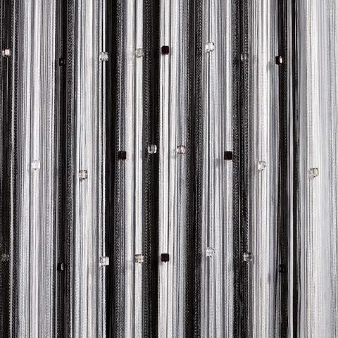 Радуга со стеклярусом Белая, серая, черная. Ш-300см., В-280см. Арт.616