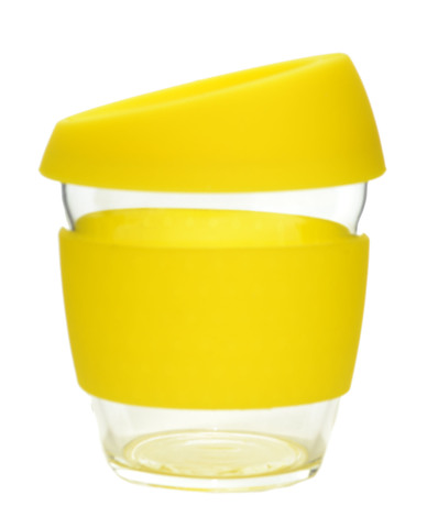 Кружка Coffee Cup из боросиликатного стекла 226 мл. желтый
