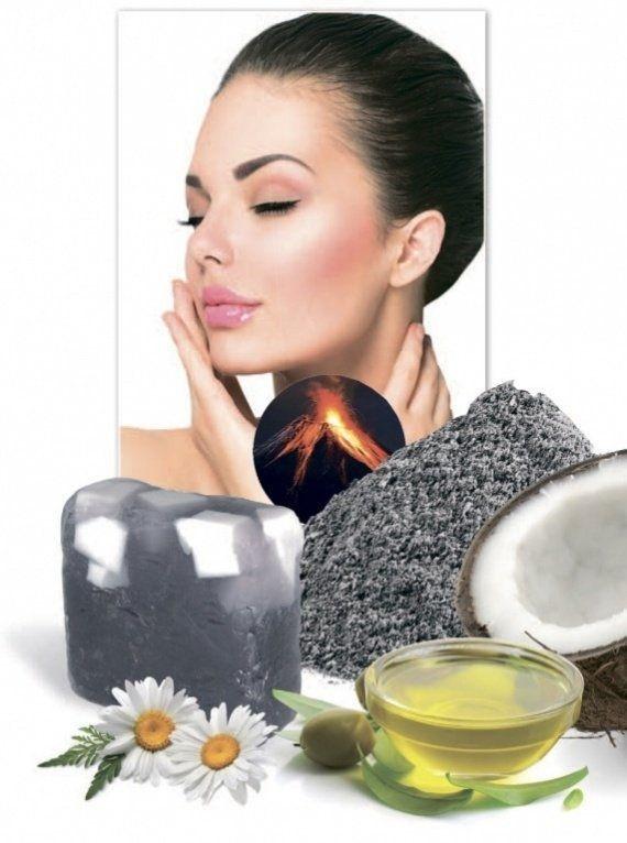 Мыло для лица с вулканическим пеплом