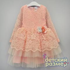 Платье 92-110 (гипюр, брошь)