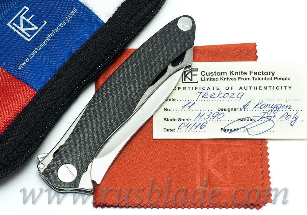 CKF Trekoza Carbon Fiber double inlay Knife Limited