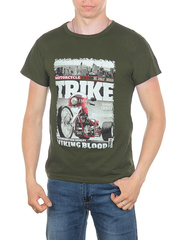 11113-6 футболка мужская, хаки