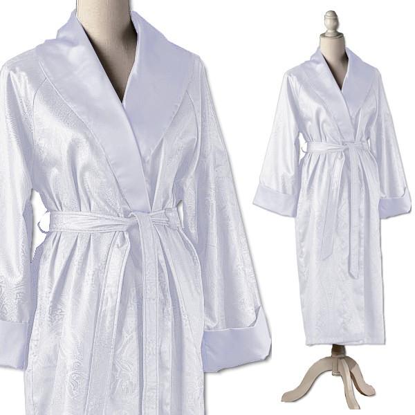 Элитный халат сатиновый Delhi белый от Curt Bauer