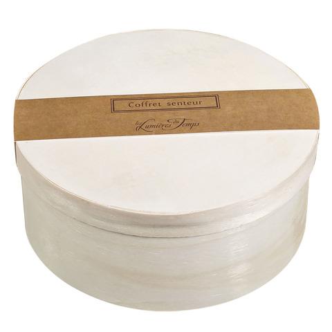 Круглая подарочная коробка диам.16 см. Содержит диффузор 100 мл.+свеча 90 гр.