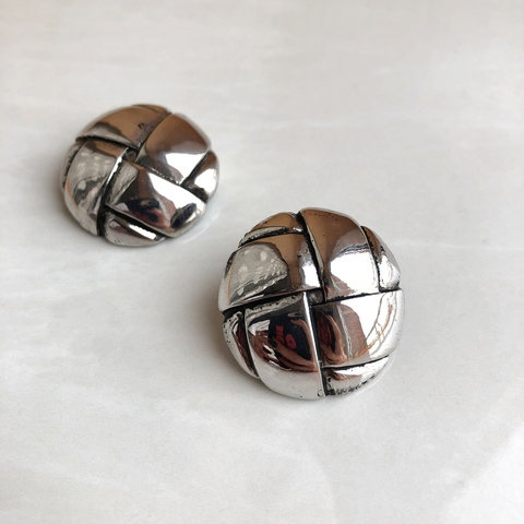 Серьги Снитч, серебряный цвет
