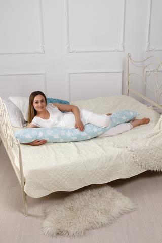 Подушка для беременных I170 (лебяжий пух) 10617 звезды