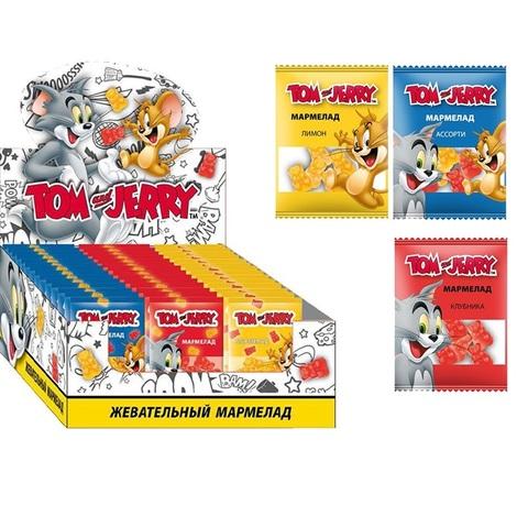 Tom and Jerry мармелад жевательный Микс вкусов 1кор*8бл*48шт,10г