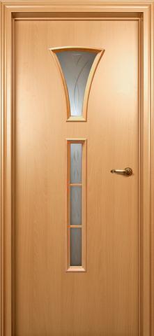 Дверь ДО 204 (бук, остекленная CPL), фабрика Краснодеревщик