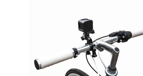 Крепление на трубу/раму диаметром 11мм –18мм GoPro GRH30 Handlebar Seatpost Pole Mount на руле вид сзади
