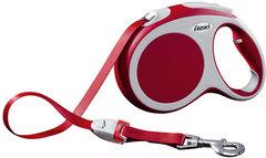 Поводок-рулетка Flexi VARIO L (до 60 кг) 5 м лента красная