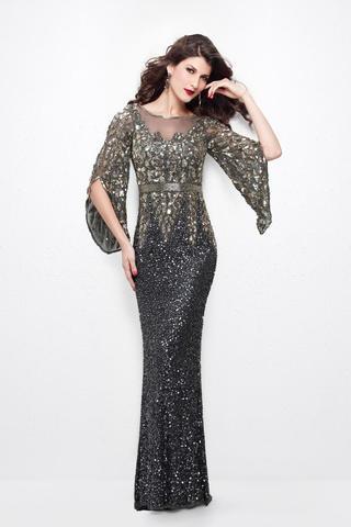 Daniela 8188 платье расшитое пайетками и бисером, необычные рукава