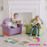 Детское кресло-качалка (мини-диванчик), Лавандовое 7