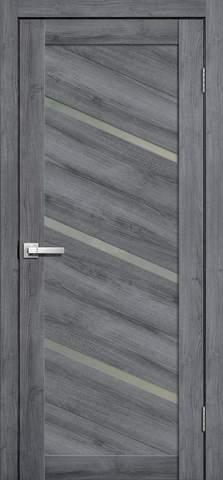 Дверь Porte line Мюнхен 05, стекло матовое, цвет дуб стоунвуд, остекленная