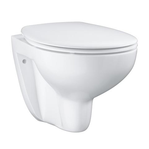 Унитаз подвесной безободковый с сиденьем микролифт Grohe Bau Ceramic 39351000