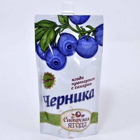 Черника протертая с сахаром Ягода сибирская, 280г