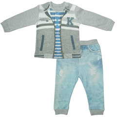 Папитто. Комплект кофточка в полоску и штанишки для мальчика FASHION JEANS