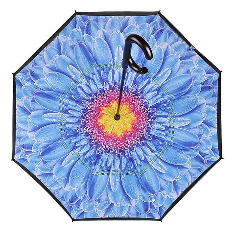 Зонт женский трость наоборот АРТ 2800-4