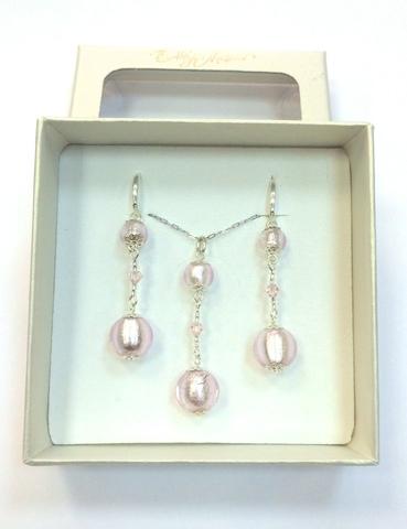 Комплект Primavera Pink (серьги, подвеска)