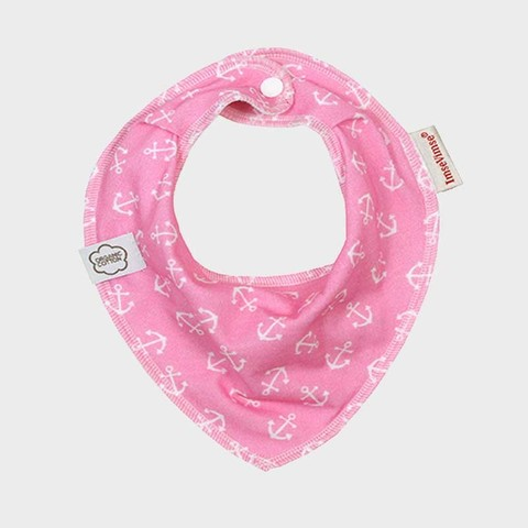 Нагрудник-слюнявчик, pink anchor