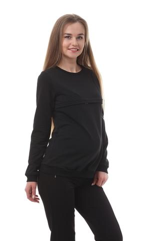 Джемпер для беременных и кормящих 10509 черный