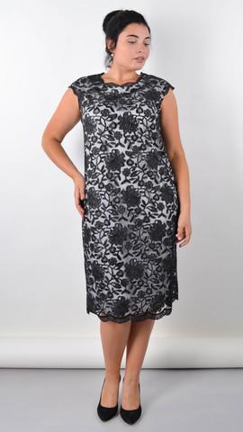 Соломия. Красивое платье для особого случая. Черный+белый.
