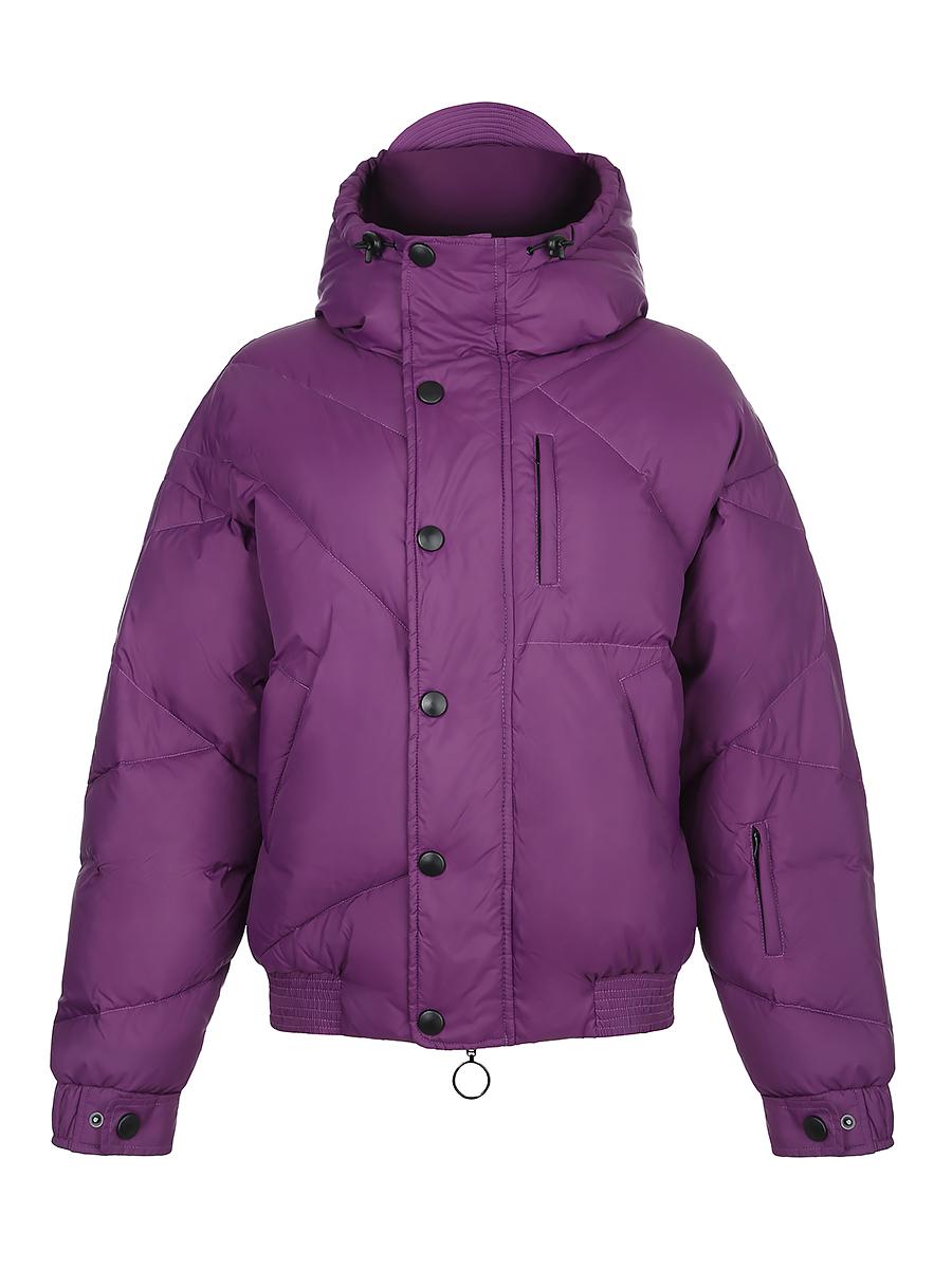 Пуховик укороченный фиолетовый (FW0392)