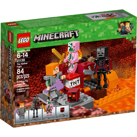 LEGO Minecraft: Бой в Подземелье 21139 — The Nether Fight — Лего Майнкрафт