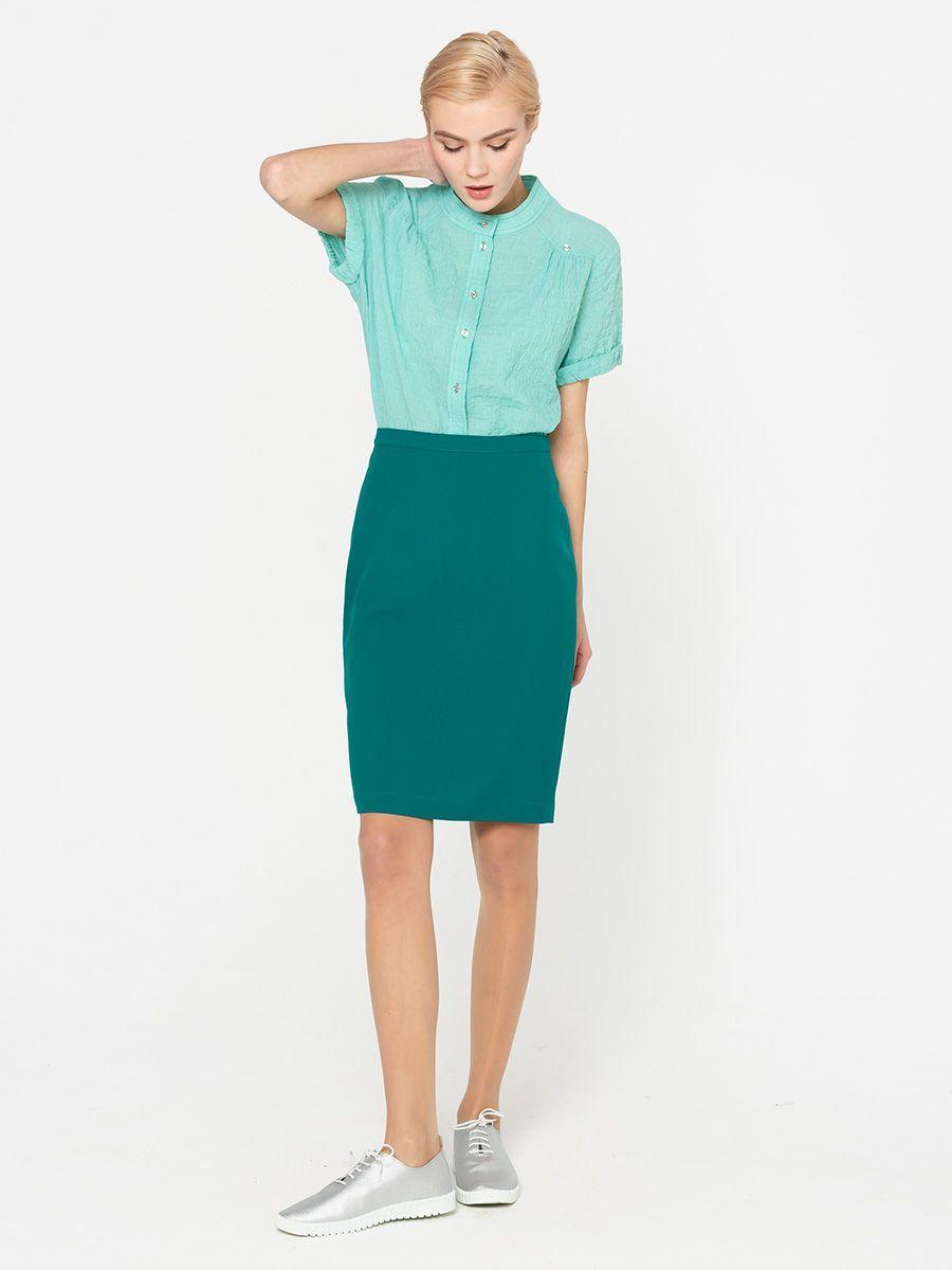 Юбка Б027а-509 - Прямая классическая юбка прекрасно сочетается с любым верхом, подойдет как для офиса так и для повседневной жизни.