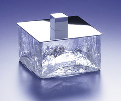 Емкость для косметики Windisch Box Craquele хром малая