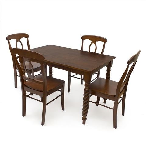 Стол обеденный Наполеон прямоугольный деревянный темный дуб