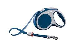 Поводок-рулетка Flexi VARIO М (до 25 кг) 5 м лента синяя
