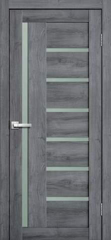 Дверь Porte line Берлин 17, стекло матовое, цвет дуб стоунвуд, остекленная