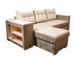 Карелия-Люкс угловой диван-кровать 1я2д с полками