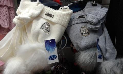 Комплект шапка, шарф и варежки