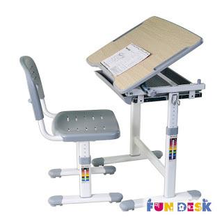 Комплект: парта и стул-трансформеры PICCOLINO серый