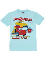 1178-17 футболка детская, голубая