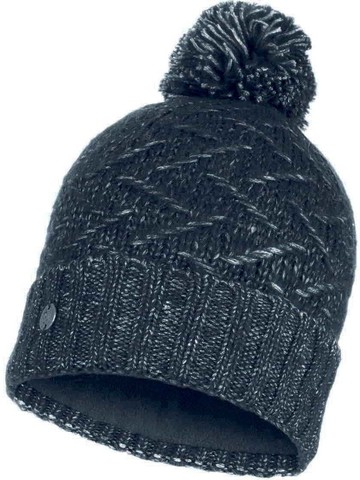 Вязаная шапка с флисовой подкладкой Buff Hat Knitted Polar Ebba Black