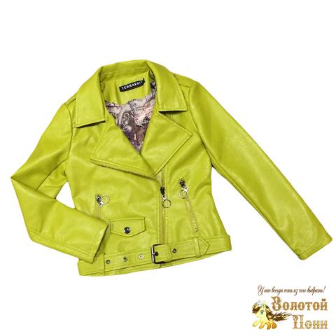 Куртка экокожа девочке (5-9) 200310-NA101