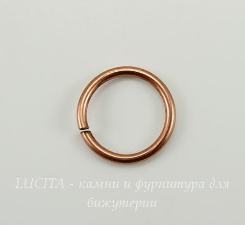Винтажное колечко одинарное 16х1,6 мм (оксид меди)